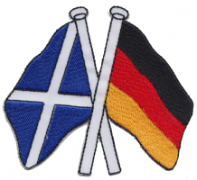 Scotland & Germany Friendship Embroidered Patch A181